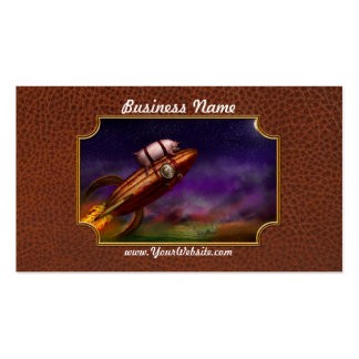 Flying Pig - Rocket - To the moon or bust Business Cards