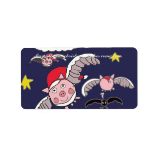 Flying Pig Santas Label