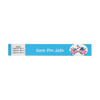 Flying Pig save the date Wraparound Address Label
