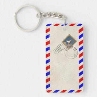 flying pig stamp keychain