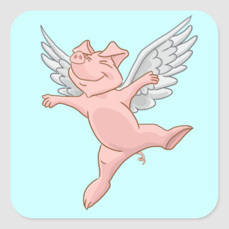 Flying Pig Sticker