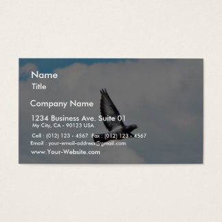 Flying Pigeon On Sky Business Card