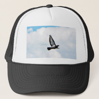 Flying Pigeon On Sky Trucker Hat