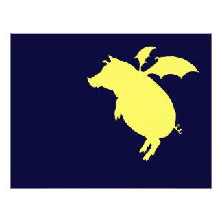 Flying piggy 21.5 cm x 28 cm flyer