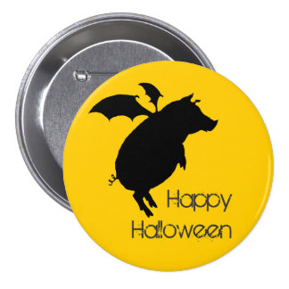 Flying piggy 7.5 cm round badge