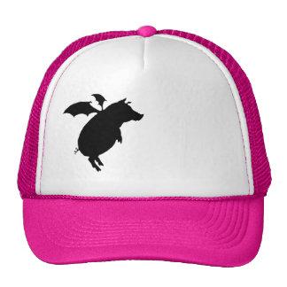 Flying piggy trucker hats