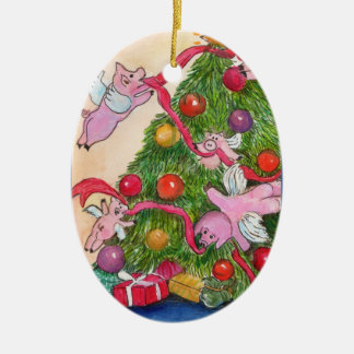 Flying Pigs Decorate Tree Ornament
