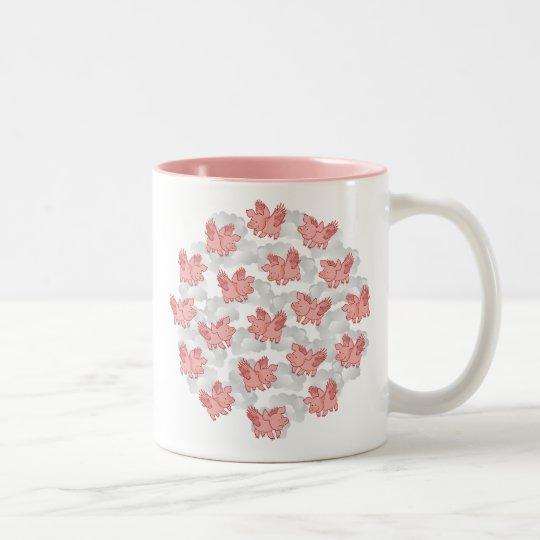 Flying Pigs mug, choose style / color &