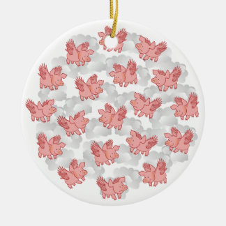 Flying Pigs ornament, customize Christmas Ornament
