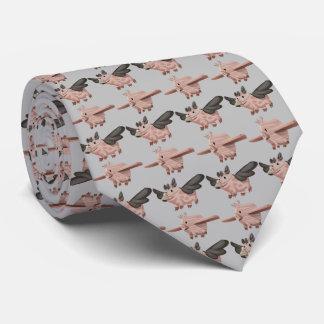 Flying Pigs Pattern Tie
