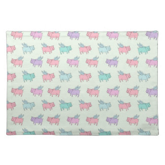 Flying pigs place mat