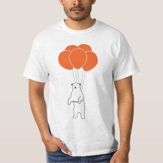 Flying Polar Bear with Balloons T-Shirt