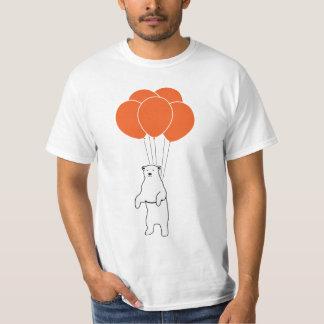 Flying Polar Bear with Balloons Tshirts