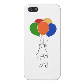 Flying Polar Bear with Birthday Balloons iPhone 5 Case