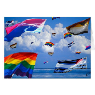 """Flying Pride"" by Mark Thaler Note Card"