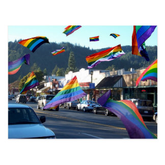 Flying Pride Flags Through Guerneville Postcards