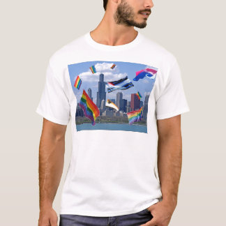 Flying Pride Over Chicago T-Shirt