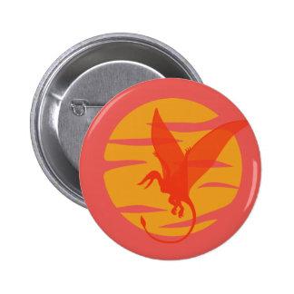 Flying Pterosaur 6 Cm Round Badge