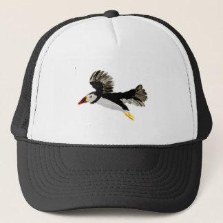 Flying Puffin Art Trucker Hat