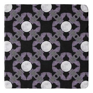 Flying Purple Bats and Full Moons Stone Trivet