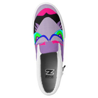Flying Purple Monster Flats Printed Shoes