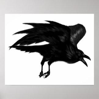 Flying Raven Archival Poster