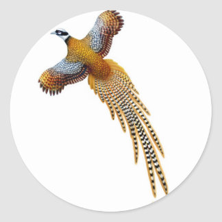Flying Reeves Pheasant Sticker