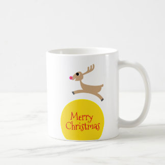 Flying Reindeer Coffee Mug