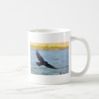 flying rook basic white mug