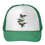 Flying Ruby-throated Hummingbird Cap