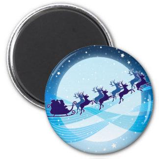 Flying Santa Refrigerator Magnet