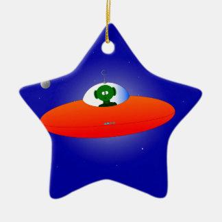 Flying Saucer Ceramic Star Decoration