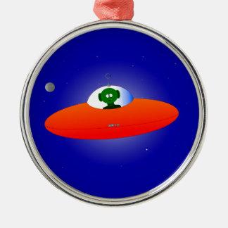 Flying Saucer Christmas Ornament