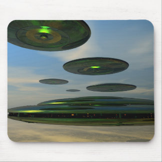 Flying Saucer Fleet Mousepad