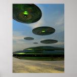 Flying Saucer Fleet Poster