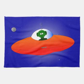 Flying Saucer Tea Towel
