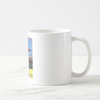 Flying Saucers_Pulp Art Basic White Mug