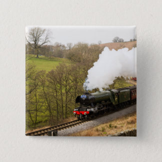 Flying Scotsman at Goathland 15 Cm Square Badge