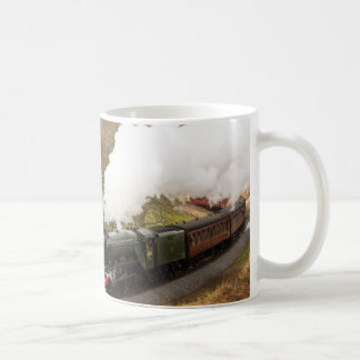 Flying Scotsman at Goathland Basic White Mug