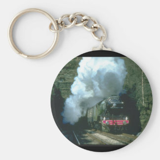 Flying Scotsman caught between_Steam Trains Key Ring