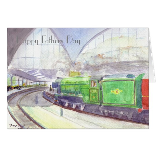 Flying Scotsman Fathers Day card
