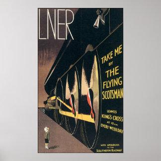 Flying Scotsman Liner Poster