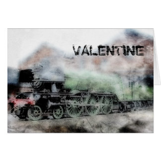Flying Scotsman Vintage Steam Train Valentine Card
