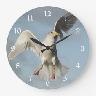 Flying Seagull Photo Wall Clock