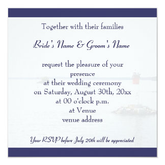 flying seagull wedding invitation