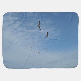Flying Seagulls Baby Blanket