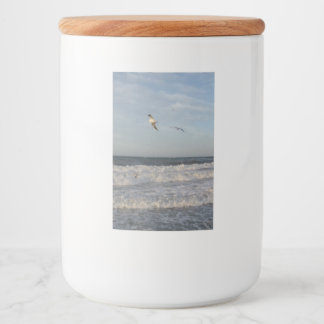 Flying Seagulls Food Container Label