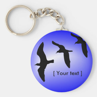 Flying Seagulls Keychain