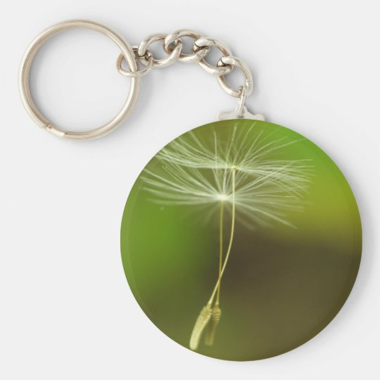 Flying seeds basic round button key ring
