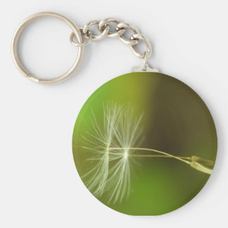Flying seeds - Dandelion seeds in the air Basic Round Button Key Ring